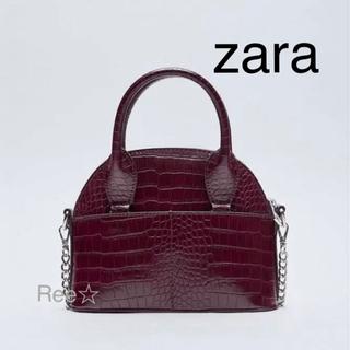 ZARA - zara アニマル柄ミニボストンバッグ ザラ ショルダーバッグ 完売品