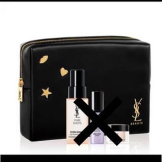 Yves Saint Laurent Beaute - イヴ・サンローラン ポーチ ブラック ノベルティ 非売品 ロゴ 新品 黒