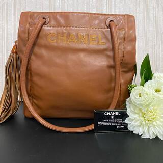 CHANEL - CHANEL シャネル トートバッグ ショルダー 美品 Gカード シリアル Gシ