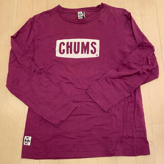 チャムス(CHUMS)のチャムス ロンT  パープル L(Tシャツ/カットソー(七分/長袖))