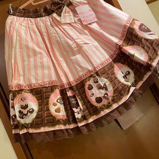 アンジェリックプリティー(Angelic Pretty)のMelty チョコレート スカート(ひざ丈スカート)