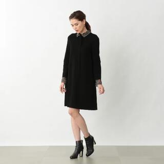 EPOCA - 美品♡EPOCA 襟・袖レース ワンピース リトルブラックドレス
