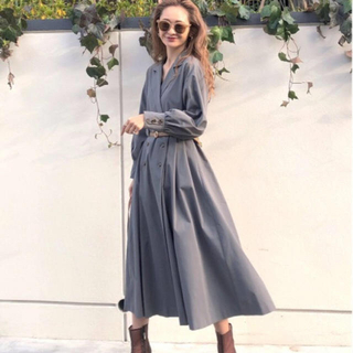 Ameri VINTAGE - アメリヴィンテージ LONG COAT LIKE BELT DRESS