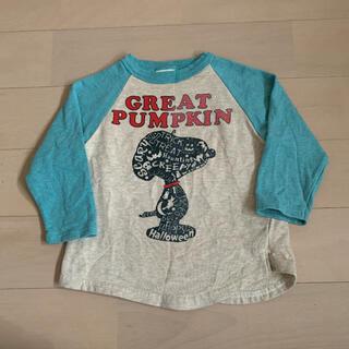 デニムダンガリー(DENIM DUNGAREE)のストレッチ裏毛 SNOOPY HALLOWEEN Tシャツ 90(Tシャツ/カットソー)