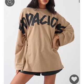 アナップ(ANAP)の☆ANAP☆      フロントロゴロングTシャツ(Tシャツ(長袖/七分))