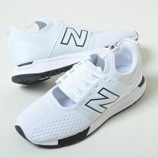 ニューバランス(New Balance)のニューバランス ホワイト メッシュ スニーカー 新品 軽量 白 22 シューズ(スニーカー)