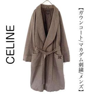 celine - Celine セリーヌ ガウンコート ロングコート マカダム刺繍 メンズ 冬物