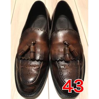 ザラ(ZARA)のZARA ザラ ローファー 革靴  モカシン ブラウン(スリッポン/モカシン)