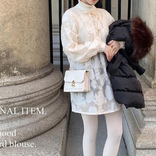 Kastane - jacquard blouse / pink beige
