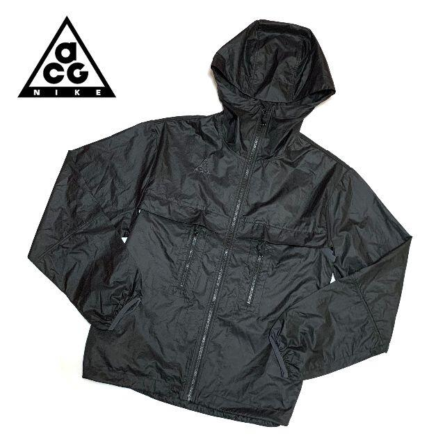 NIKE(ナイキ)の新品 Sサイズ ナイキ ACG ウィメンズ フーデッド ジャケット ブラック レディースのジャケット/アウター(ナイロンジャケット)の商品写真