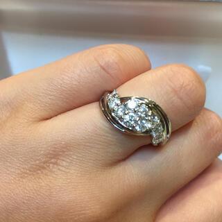 美品 1カラット ダイヤモンドリング プラチナ 16号(リング(指輪))