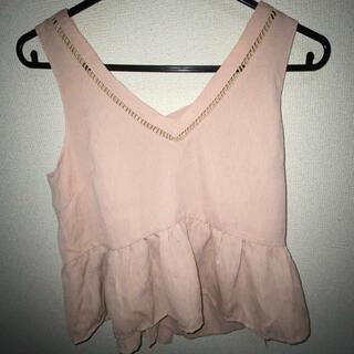 アンビー(ENVYM)のノースリーブ ピンク 未使用(カットソー(半袖/袖なし))