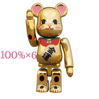 メディコムトイ(MEDICOM TOY)のBE@RBRICK 招き猫 金運 金メッキ 弐 100%(その他)