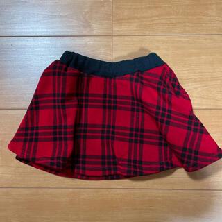 クレードスコープ(kladskap)のクレードスコープ☆裏起毛チェックスカート90(スカート)