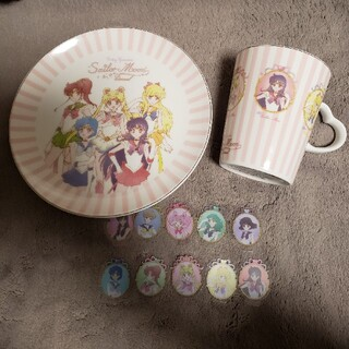 セーラームーン - セーラームーン お皿 マグカップ シール5枚