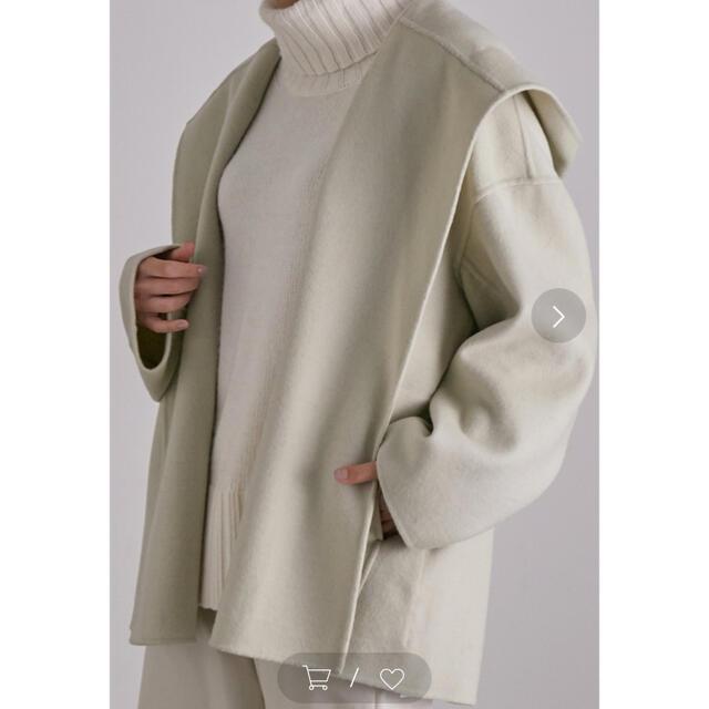 Spick and Span(スピックアンドスパン)のウールカシミアリバーコート レディースのジャケット/アウター(ガウンコート)の商品写真