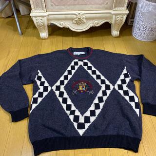 カステルバジャック(CASTELBAJAC)のカステルバジャック 刺繍 ラムウール セーター Lサイズ(ニット/セーター)
