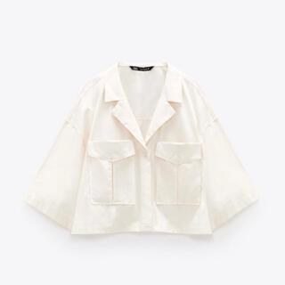 ZARA M/オーバーサイズ シャツ オーガニックコットン100% 春物
