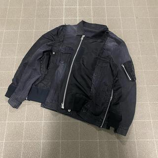 sacai - Sacai サカイ 19-01897M 再構築MA-1ドッキングデニムジャケット