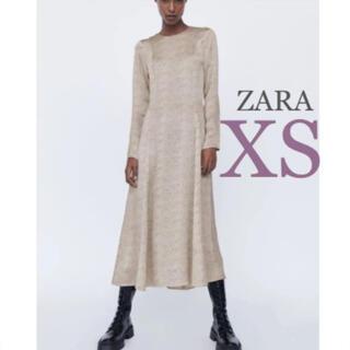 ZARA - 【新品・未使用】ZARA プリント柄 ミディ丈 ワンピース  XS