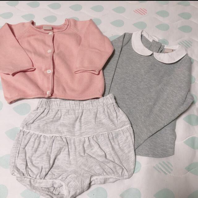 petit main(プティマイン)のプティマイン 70〜80セット キッズ/ベビー/マタニティのベビー服(~85cm)(シャツ/カットソー)の商品写真