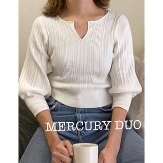 MERCURYDUO - 新品タグ付き【定価4950円】マーキュリーデュオ リブニット トップス