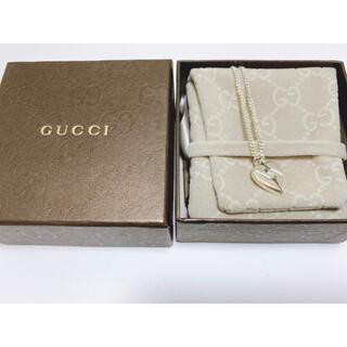 グッチ(Gucci)のGUCCI ノットハート ネックレス(ネックレス)