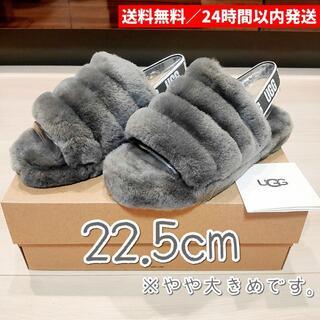 UGG - 新品 22.5cm UGG アグ フラッフ イヤー スライド サンダル