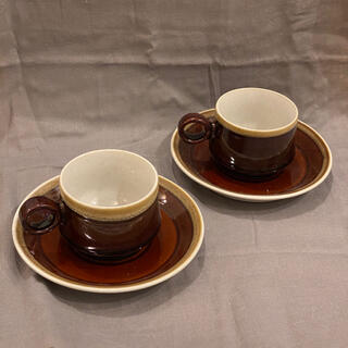 ノリタケ(Noritake)のノリタケ フォークストーン カップ&ソーサー 2個セット(食器)