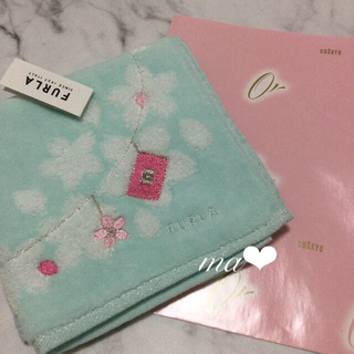 TOCCA - 今期★FURLA フルラ 桜柄 花柄 刺繍 タオルハンカチ 手洗い ブランド