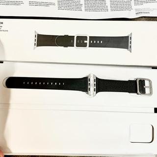 アップル(Apple)の純正美品✨廃盤 AppleWatch 44mm,42mm バンド(レザーベルト)