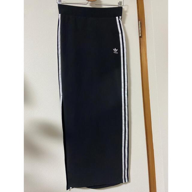 adidas(アディダス)のアディダス ロングスカート タイトスカート スリットスカート M レディースのスカート(ロングスカート)の商品写真