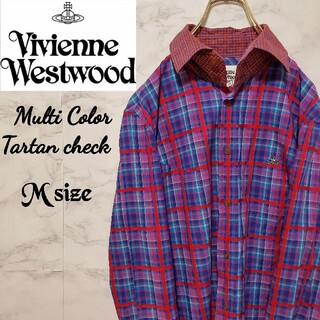 Vivienne Westwood - ヴィヴィアン ウエストウッドマン マルチタータン チェック シャツ 刺繍 ロゴ