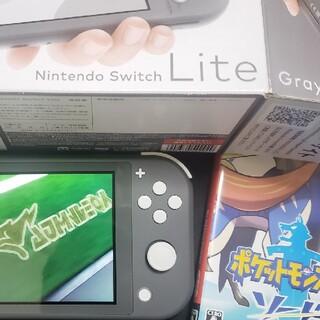 Nintendo Switch Lite ブラック  + ポケモン ソード