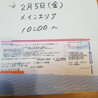 アムールデュショコラ 入場券 チケット メインエリア 10時(その他)