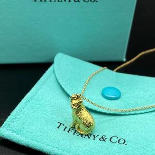 Tiffany & Co. - 極希少 美品 ティファニー イエロー ゴールド キャット ネックレス QP42