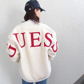 GUESS - GUESS ボアジャケット ホワイト