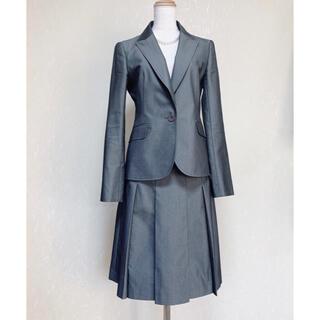 INDIVI - 美品 INDIVI   ストライプスーツ スカートスーツ グレー サイズ40