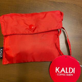 カルディ(KALDI)の⭐︎KALDI⭐︎エコバッグ 赤(エコバッグ)