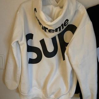 Supreme - Supremeバックロゴパーカー2XLホワイト