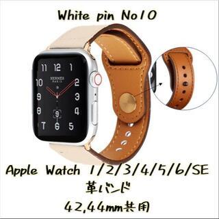 AppleWatch 革 バンド 42 44 レザー アップルウォッチ 10(レザーベルト)