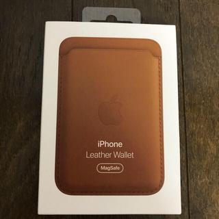アップル(Apple)のApple  純正 iPhone レザーウォレット (iPhoneケース)