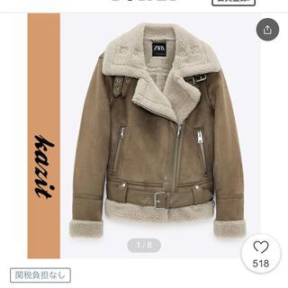 ザラ(ZARA)のZARA スエード ムートン ジャケット コート ボア H&M dholic(ムートンコート)