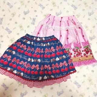 Shirley Temple - 285【160】シャーリーテンプル いちごバスケット スカート チェリーチョコ