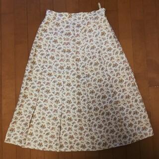 アクアスキュータム(AQUA SCUTUM)のAquascutum 花柄ロングスカート レディース 麻(ロングスカート)