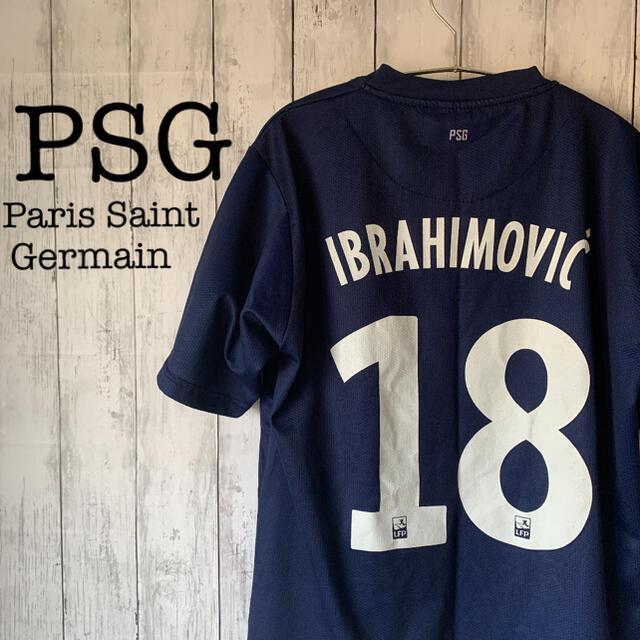 【サッカー×PSG】古着 イブラヒモビッチ ゲームシャツ パリサンジェルマン スポーツ/アウトドアのサッカー/フットサル(ウェア)の商品写真