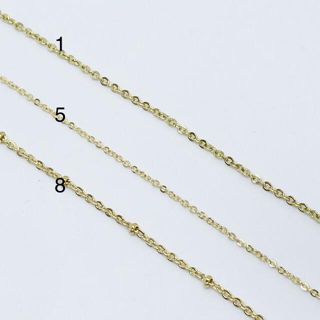 ete(エテ)の18kgf ゴールド ネックレス チェーン チョーカー 刻印有 スクリュー レディースのアクセサリー(ネックレス)の商品写真