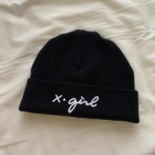 エックスガール(X-girl)のX-girl ニット帽(ニット帽/ビーニー)