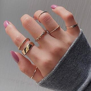 TODAYFUL - 7個入り シンプル リング セット ファランジリング 指輪