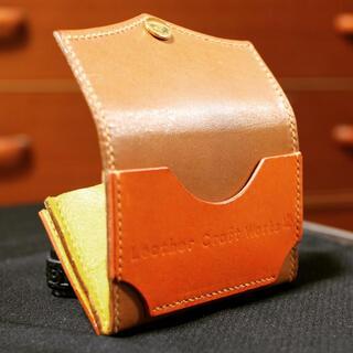 栃木レザー - コンビニ財布 栃木レザーとオイルレザー使用で本革手作り財布
